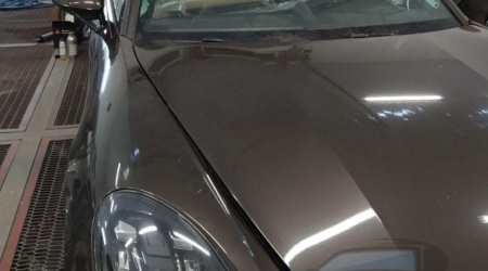Сохранение и установка оригинального лобового стекла на Porsche panamera (3)
